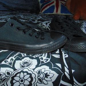 Black Monochrome Low Top Converse